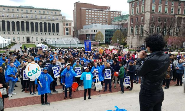 Reports from the Picket Line: A Rousing Day for Solidarity at Columbia