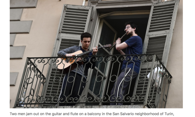In the streets a serenade