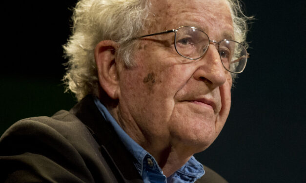 NOAM CHOMSKY SAYS, FIGHT FOR THE REVOLUTION IF YOU WISH, BUT OUR IMMEDIATE DESTINY, IF WE ARE LUCKY, IS REGIMENTED CAPITALISM
